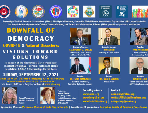 Online Webinar: Downfall of Democracy–COVID-19 & Natural Disasters: Visions toward Solutions
